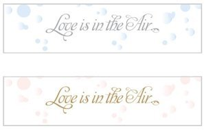 Love is in the Air Bubble Stickers (Set of 24) image