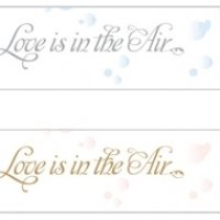 Love is in the Air Bubble Stickers (Set of 24)