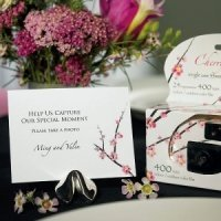 Cherry Blossom Camera Table Sign (Set of 6)