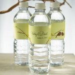Love Birds Personalized Water Bottles for Weddings