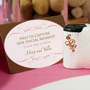 Wedding Memories Camera Table Signs image