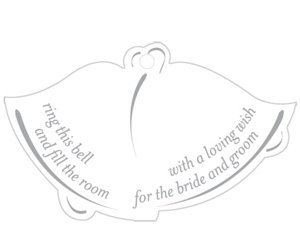 Bell Shaped Favor Card with Poem (25 pack) image