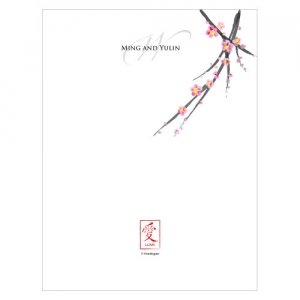 Cherry Blossom Blank Note Card (Sets of 6) image