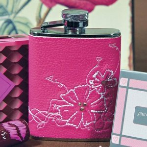 Faux Leather Just for Her Flask image