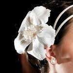 Single White Bloom Floral Hair Accessory