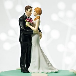 My Main Squeeze Wedding Couple Cake Topper (3 Skin Tones) image