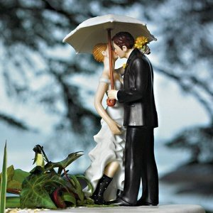 Showered with Love Couple Cake Topper image