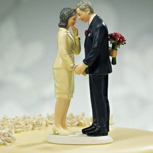 Still in Love Mature Couple Cake Topper image