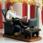 Couch Potato Groom Funny Wedding Topper (Mix and Match)