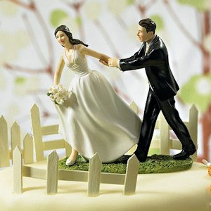 Race to the Altar Couple Cake Topper image