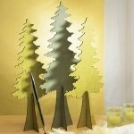 Wooden Die Cut Evergreen Trees (Set of 2)