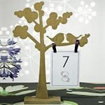 Wooden Die Cut Trees with Love Birds (Set of 2)