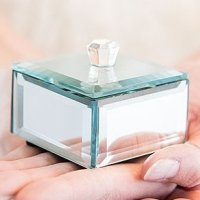 Miniature Beveled Mirror Box Favors (Set of 4)