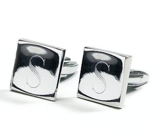 Silver Plated Square Cufflinks image