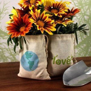 Organic Cotton ECO Mini Drawstring Bag Sets - 2 Designs image