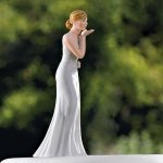 Blowing Kisses Mix and Match Bride Cake Topper