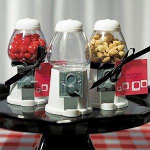 White Gumball Machine Favors image