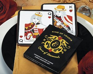 King of Hearts & Queen of Diamonds Coaster Set image