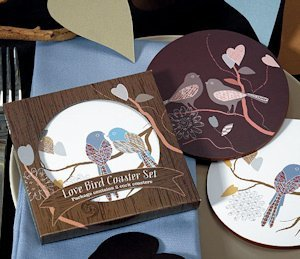 Love Birds Coasters for Wedding Favors image