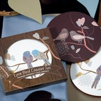 Love Birds Coasters for Wedding Favors