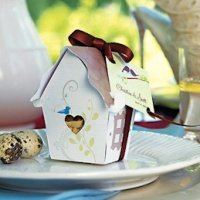 Bird House Favor Box - Set of 12