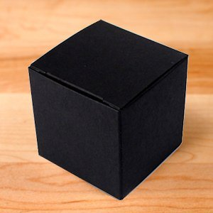 Black 2 Inch Cube Favor Boxes - Set of 10 image