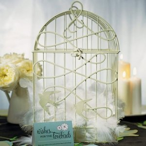 Decorative 'Birds in Flight' Birdcage for Wedding Cards image