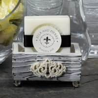Jewel Footed Wooden Box Favors - Set of 6