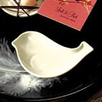 Miniature Love Bird Wedding Favor Candy Dishes - Set of 8