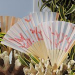Coral Reef Hand Held Fans for Weddings (Set of 6)