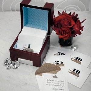 Wooden Anniversary Keepsake Note Box image