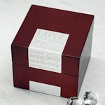 Wedding Wishes Wooden Note Box