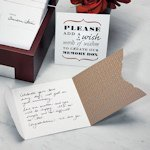 Wedding Wishes Note Card Set - Pack of 50