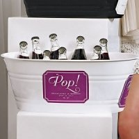 Oval Plastic Beverage Tub - Black or White