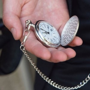 Engraved Pocket Watch for Groomsmen image