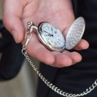 Engraved Pocket Watch for Groomsmen