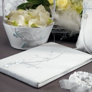 Love Birds Classic White Guest Book image