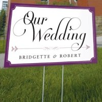 Personalized Expressions Outdoor Wedding Sign
