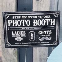 Customized Chalkboard Print Directional Photo Booth Sign