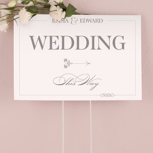 Classic Script Directional Sign image
