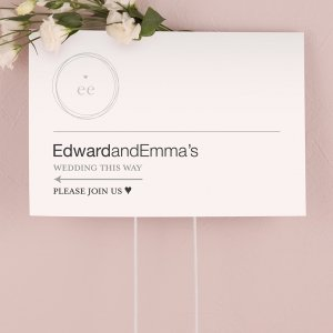 Modern Monogram Simplicity Directional Sign image