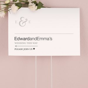 Simple Ampersand Monogram Directional Sign image