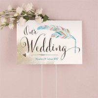 Feather Whimsy Directional Sign