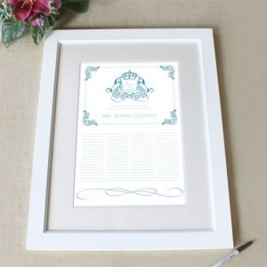 Personalized Coat of Arms Framed Certificate (4 Colors) image