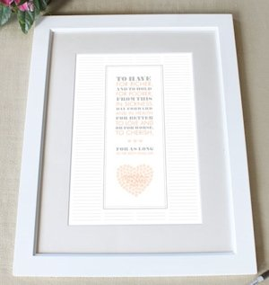Personalized 'From This Day' Framed Certificate (8 Colors) image
