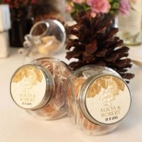 Wine Themed Mini Candy Jars (Set of 12 - 5 Colors)