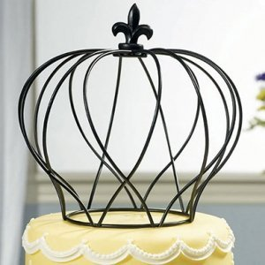 Large Wire Crown in Matte Black image