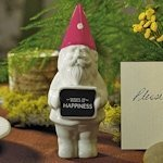Miniature Gnome with Pink Hat (Set of 4)