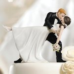 Romantic Dip Couple Cake Topper (Color Options)