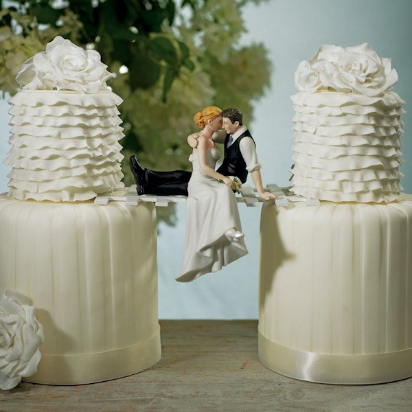 Wedding Cake Topper.The Look Of Love Wedding Couple Cake Topper